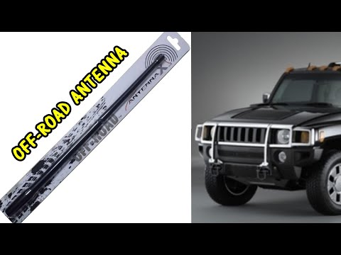 How to Install AntennaX Off-Road (13-inch) Radio Antenna for Hummer H3 and other vehicles