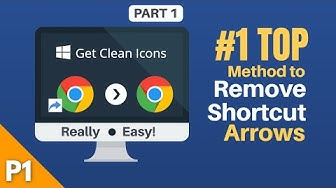 How to Remove Shortcut Arrows from Icons on Desktop | Works in all Windows | Part 1