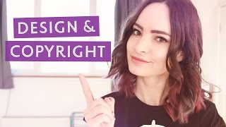 Design & Copyright - Making sure your work is legal | CharliMarieTV thumbnail