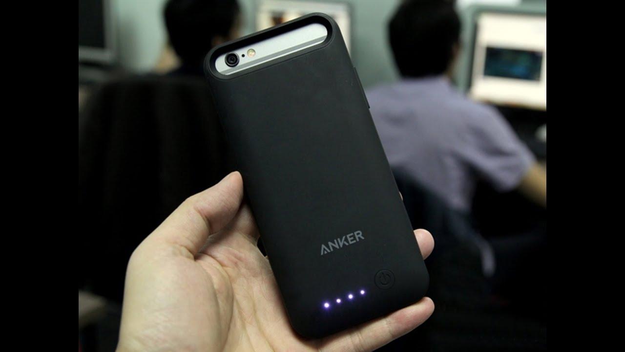 Trên tay ốp lưng kiêm pin sạc dự phòng 3100mAh cho iPhone 6S, iPhone 6 của Anker