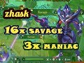 TOP GLOBAL ZHASK, 16x SAVAGE, TANPA MATI