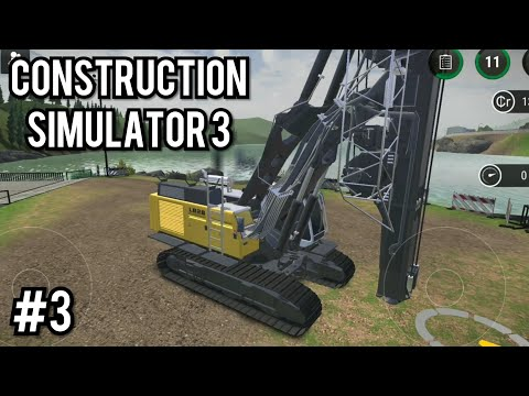 Construction Simulator 3 #3: Rotary Driller Gameplay | Liebherr LB28 Rotary Driller