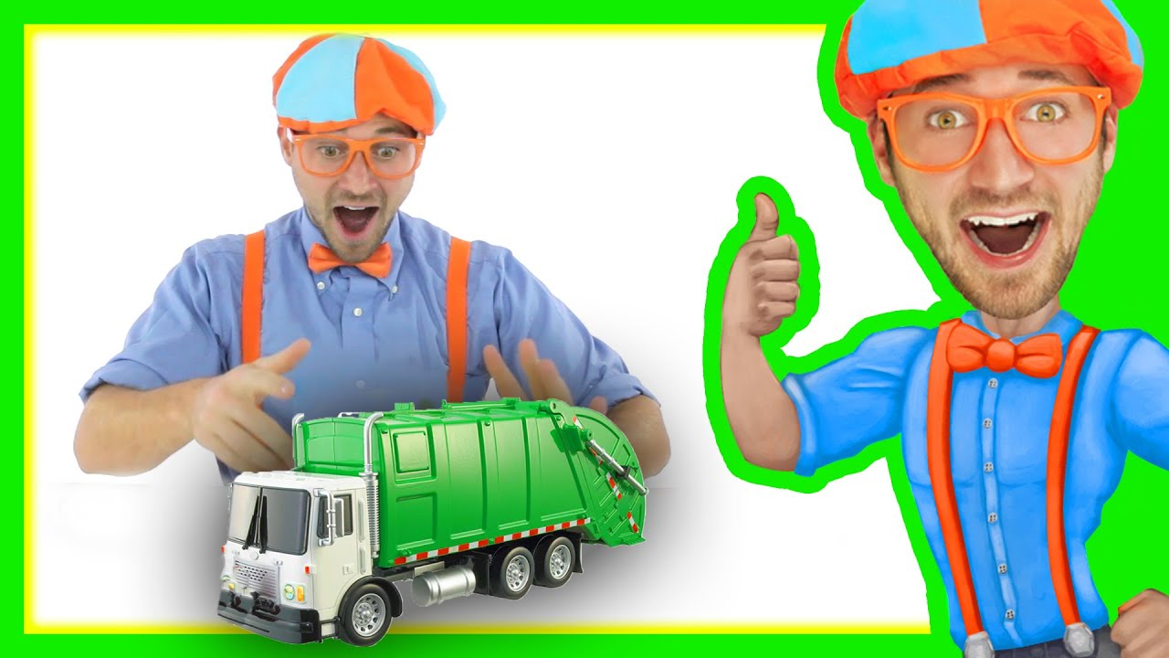 Garbage Truck with Blippi Toys