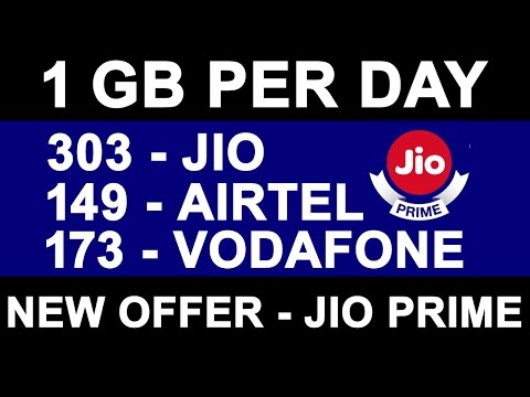 New OFFERs From AIRTEL, IDEA, Vodafone, JIO PRIME | 1GB Per Day | Plans Comparison | 20% Extra Data