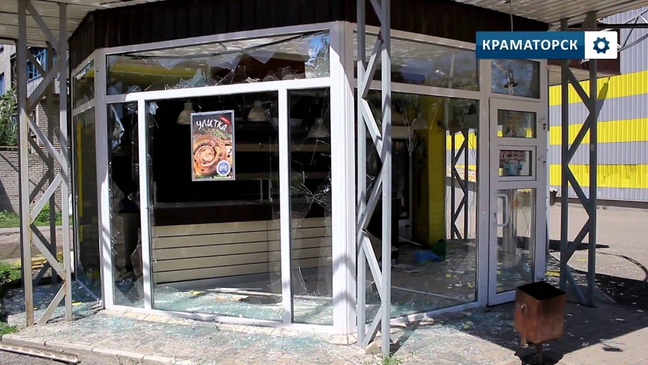 Арт.обстрел Краматорска 01.07.2014