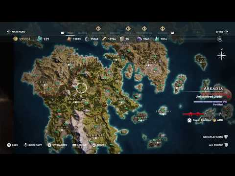 Assassin S Creed Odyssey Full World Map All Locations 100