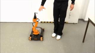 KUKA youBot with Leap Motion Sensor