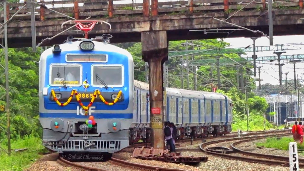 First 3 phase MEMU of Kerala | Kollam Ernakulam MEMU via Kottayam | indian  railways