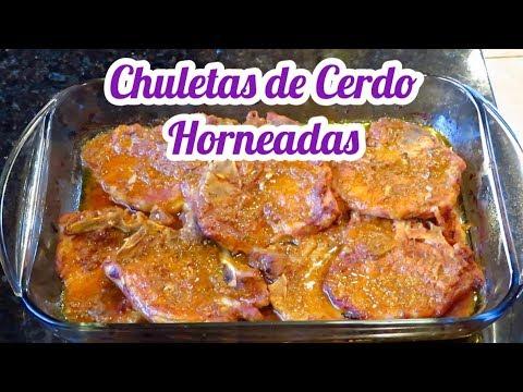 CHULETAS DE CERDO AL HORNO