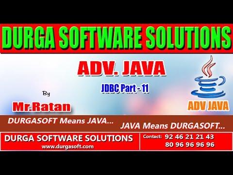 Advanced Java || JDBC Part - 11 by Ratan - YouTube