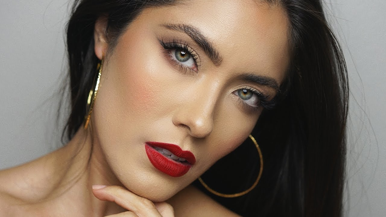 The Perfect Red Lip And Simple Makeup Melissa Alatorre YouTube