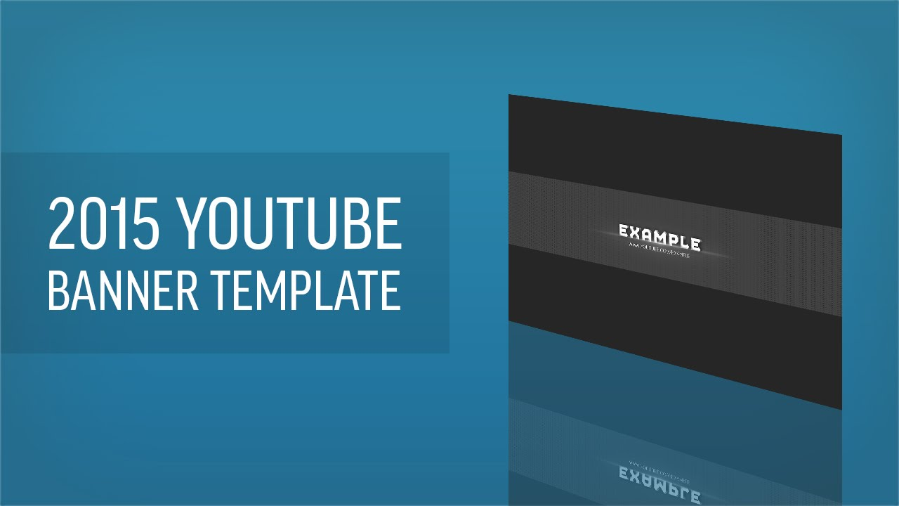 YouTube Banner Template 2015 | 3D Text | PSD | Free and Easy to ...