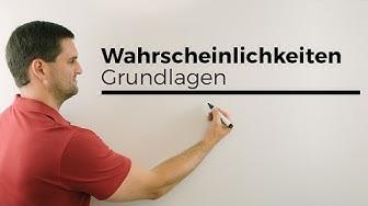 Wahrscheinlichkeiten Grundlagen | Mathe by Daniel Jung