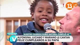 Martín festeja con sus hijos   Bienvenidos