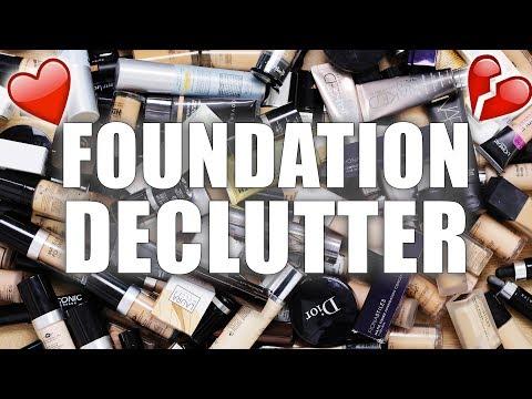100+ FOUNDATIONS | Makeup Declutter