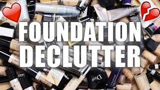 100+ FOUNDATIONS | Makeup Declutter