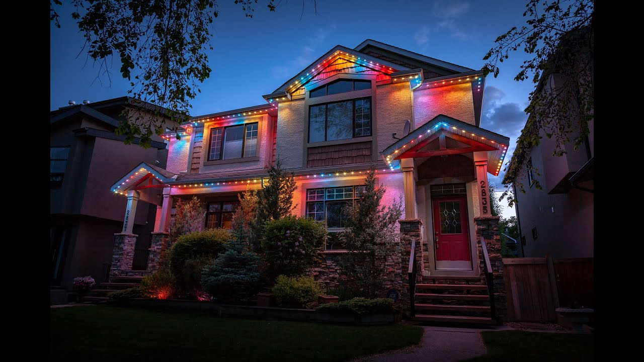 Permanent Christmas Lights.Permanent Led Holiday Christmas Lights Never Hang Lights Again