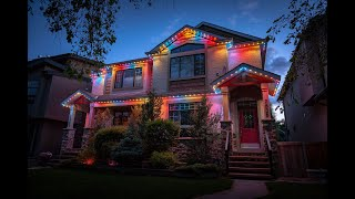 Permanent LED Holiday & Christmas Lights: Never Hang Lights Again!