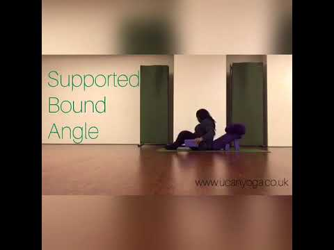 restorative yoga supported bound angle pose  youtube