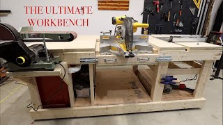The ULTIMATE workshop bench with Flip Top Miter Saw