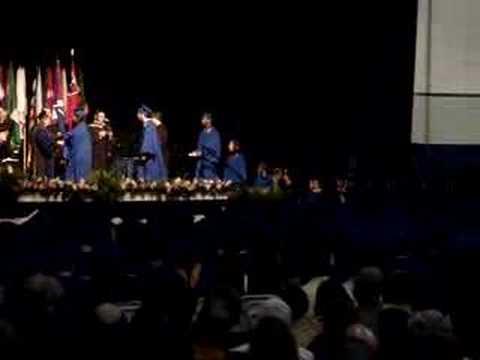 American University Graduation Backflip
