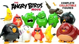 The Angry Birds Movie 2016 Complete 12 Collectible Figures w/ Red Chuck Bomb Leonard and The Pigs