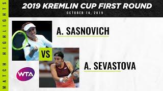 Anastasija Sevastova  vs. Aliaksandra Sasnovich   2019 Kremlin Cup First Round  WTA Highlights