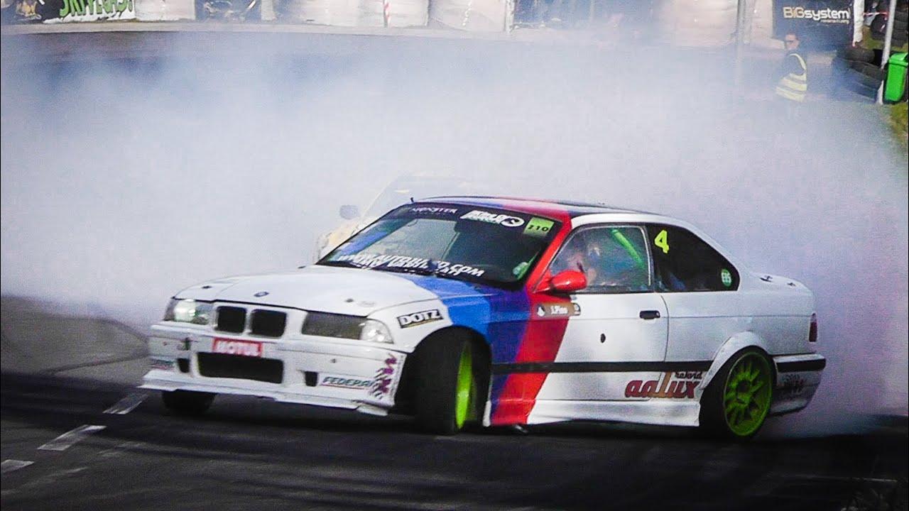 drift monster bmw e36 turbo mountain drifting [ 1280 x 720 Pixel ]