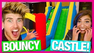 BOUNCY CASTLE IN MY HOUSE! w/TheGabbieShow Video