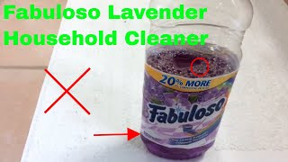 ✅  How To Use Fabuloso Lavender Household Cleaner Review