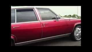 Kandy Apple Red Cadillac Fleetwood on DUB Floaters FOR SALE!!!!