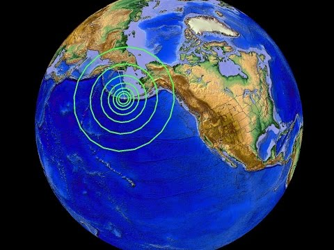 7/27/2015 -- Large M6.9 Earthquake strikes near Cleveland Volcano in Alaska