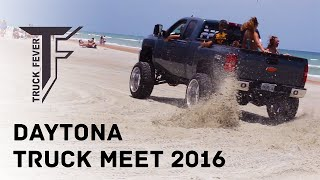 Crazy Trucks Drifting on the Beach - Truck Fever Meet Daytona 2016