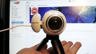 review unboxing samsung gear 360 brasil apresentao da cmera 360 graus