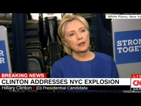 Hillary Clinton And Donald Trump Respond To Explosion In Manhattan