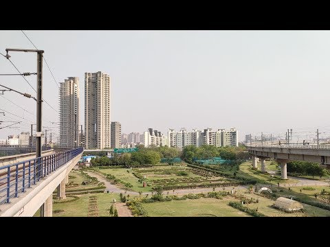 Noida City center to Noida Electronic City Metro Travel Vlog - Blue Line Metro