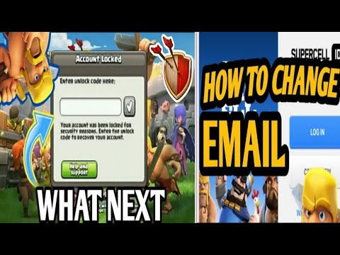 How To Change Supercell ID Email ! Clash Of Clans  Account Unlock Code