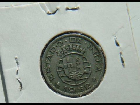 Portuguese India 1952 Half Rupia