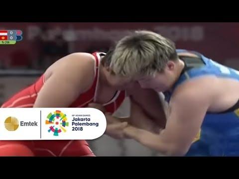 Pertandingan Gulat Wanita, Indonesia Vs Kirgizstan | Gelora Asian Games 2018