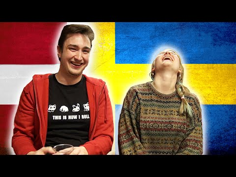 Swedish girl tries to speak Danish - Danish boy tries to speak Swedish 1