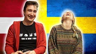 Swedish girl tries to speak Danish - Danish boy tries to speak Swedish 1