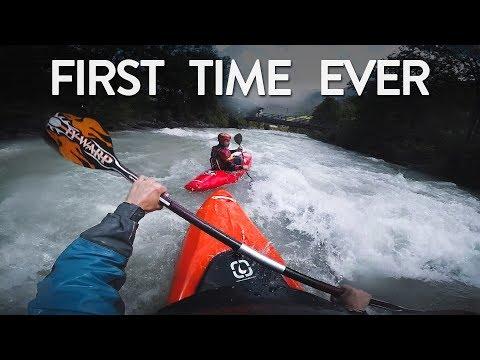 FIRST TIME - KAYAKING (whitewater)