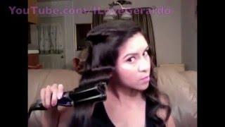 Причёска для длинных волос завивка глубокими волнами