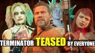 Who Roasts & Teases Terminator the Best? ( Relationship Banter Intro Dialogues ) MK 11