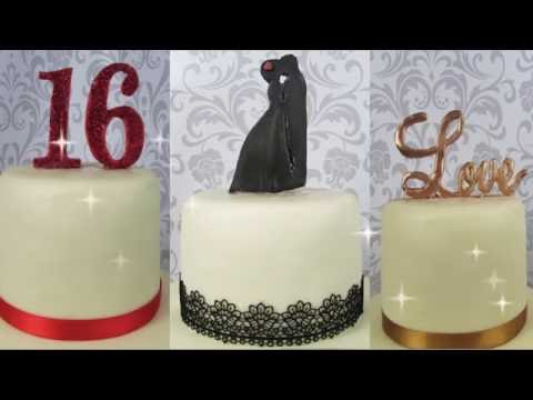 Numbers, Letters, Cake Topper out of DAS -Numeri, Silhouette, Cake Topper in DAS