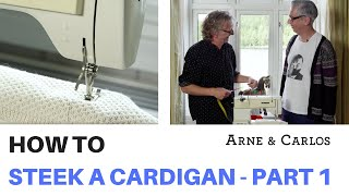 How to steek a Cardigan by ARNE & CARLOS Part 1 Knitting the body and sleeves.