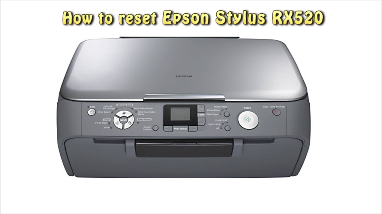 EPSON PHOTO RX520 DRIVERS (2019)