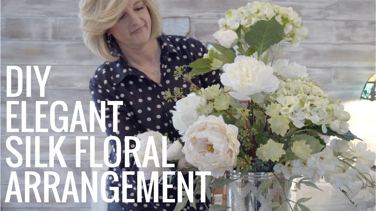 Diy Elegant Silk Floral Arrangement Easy Youtube