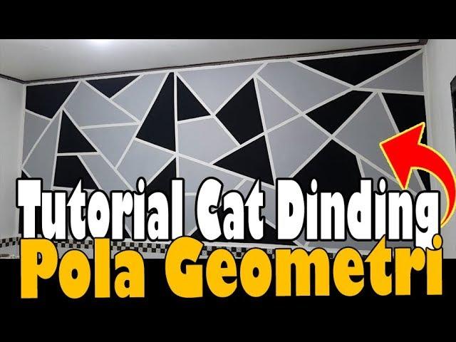 Dinding Jadi Indah Tutorial Cat Dinding Pola Geometri Youtube