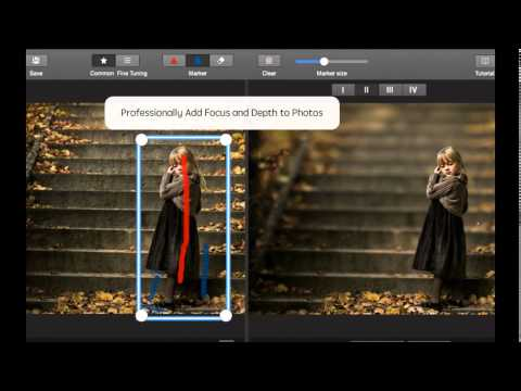 Add Focus and lens to photos for Mac OS X - After Focus